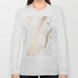 New York City White on Gold Long Sleeve T-shirt