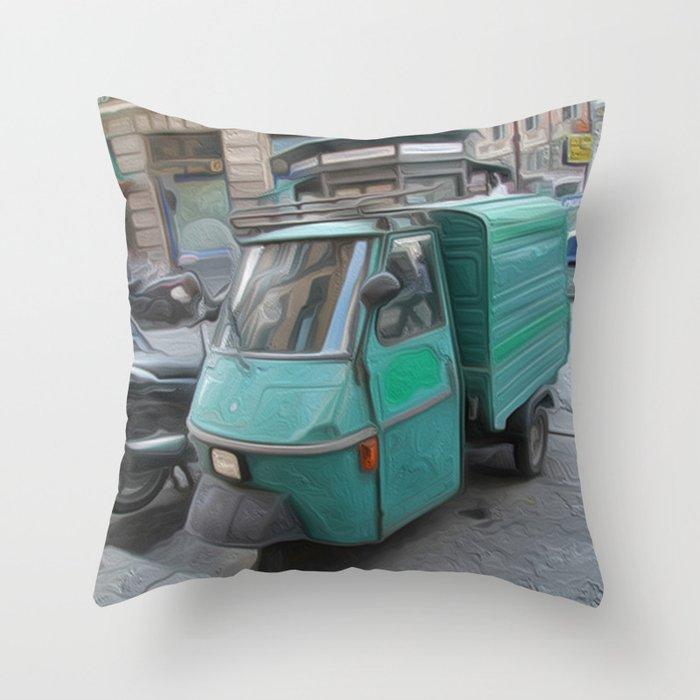 Tri motor Throw Pillow