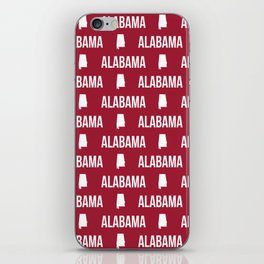 Alabama bama crimson tide pattern football varsity alumni iPhone Skin