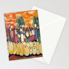 African Village Market Square Stationery Cards