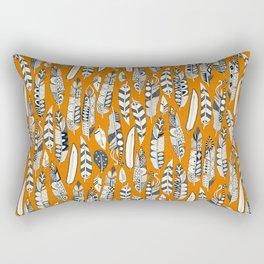 joyful feathers orange Rectangular Pillow