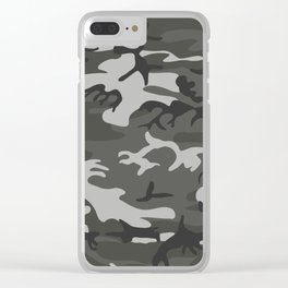 Camouflage Pattern Snow Clear iPhone Case