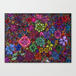 Flowers on the Brain Canvas Print
