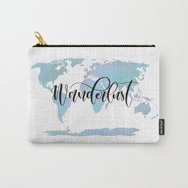 Wanderlust (blue/lilac) Carry-All Pouch