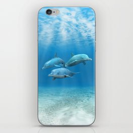 Pod Of Swimming Dolphins iPhone Skin