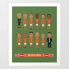 Netherlands - World Cup 2014 Art Print