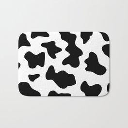 black and white ranch farm animal cowhide western country cow print Bath Mat
