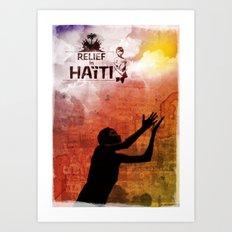 Relief in Haiti Art Print