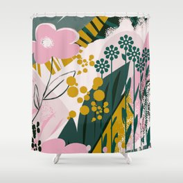 Wall decorative flower painting Shower Curtain