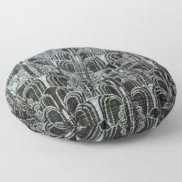 Pewter, art nouveau, metallic art work, belle époque,victorian,vintage photo,manipulated Floor Pillow