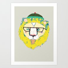 Mr Lion Art Print