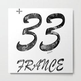 33 - France Metal Print