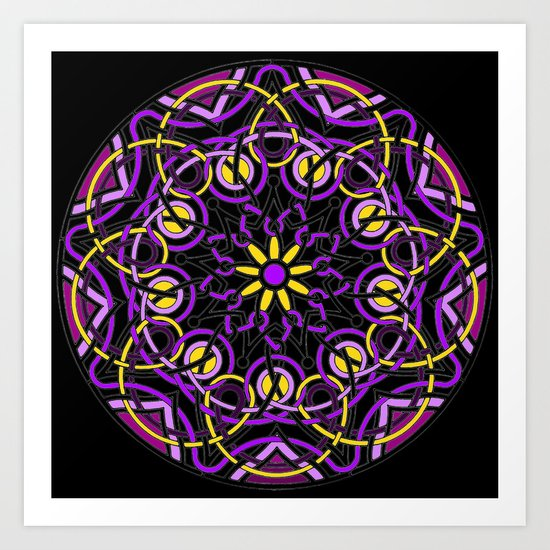 Mandhala Metamorphosis | Reiki | Meditation | Yoga Art Print
