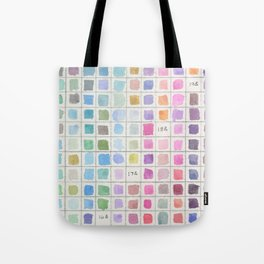Cool Colored Watercolor Swatches Tote Bag