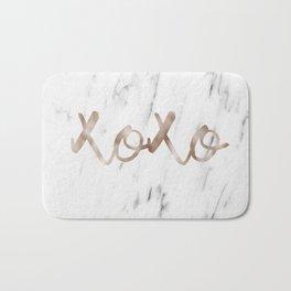 Rose gold marble XOXO Bath Mat
