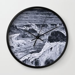 Glacial River Wall Clock