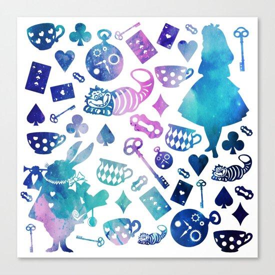 Alice in Wonderland - Galaxy W Canvas Print