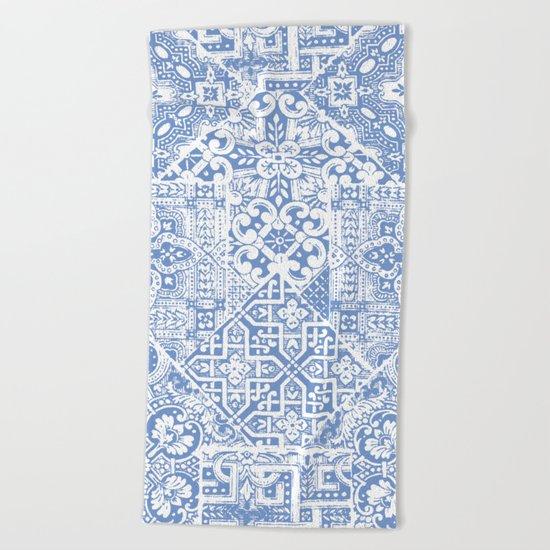 celtic cloud blue Beach Towel