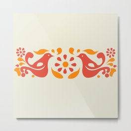 Friendship Pattern Metal Print