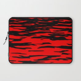 Black red abstract wave Laptop Sleeve