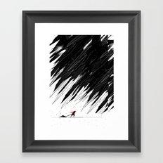 Geometric Storm Framed Art Print