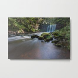 Sgwd yr Eira Waterfall Country Metal Print