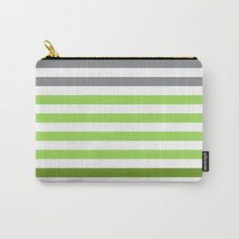 Stripes Gradient - Green Carry-All Pouch