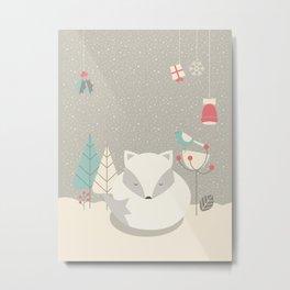 Christmas baby fox 05 Metal Print