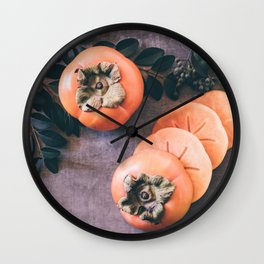 Persimmon 2 Wall Clock