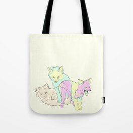 3 Channel Island Foxes Tote Bag
