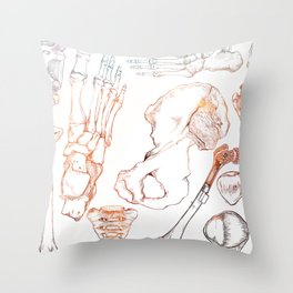 Lower Extremity Skeleton Throw Pillow