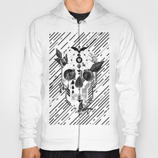 Abstract Skull B&W Hoody