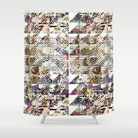 newspaper Shower Curtains featuring Newspaper by FakeFred