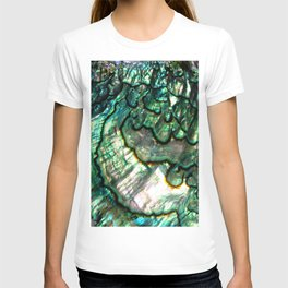 Shimmering Green Abalone Mother of Pearl T-shirt