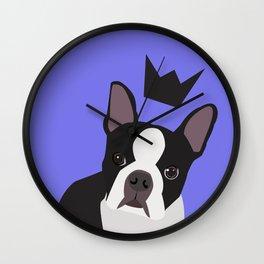 Royal Boston Terrier Wall Clock