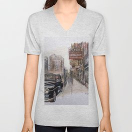Black car Unisex V-Neck