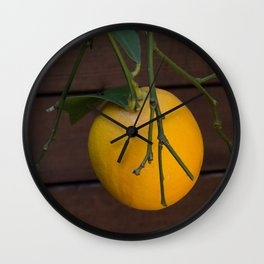 One Lemon on the Tree Wall Clock