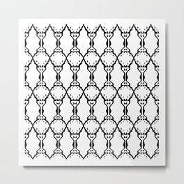 Design ornaments, on white Metal Print
