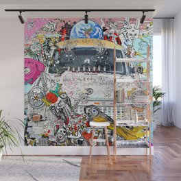 Jx3 - The Shower Curtain Wall Mural