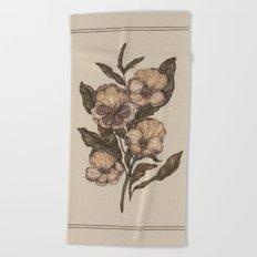 Pansy Beach Towel