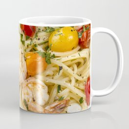 Spaghetti pasta with prawns Coffee Mug