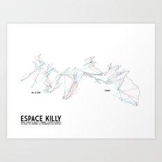 Espace Killy, Savoie, FRA - European Edition (Labeled) - Minimalist Trail Art Art Print