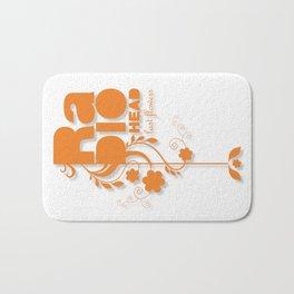 "Radiohead ""Last flowers"" Song / Orange version Bath Mat"