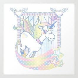 colorful unicorn Art Print