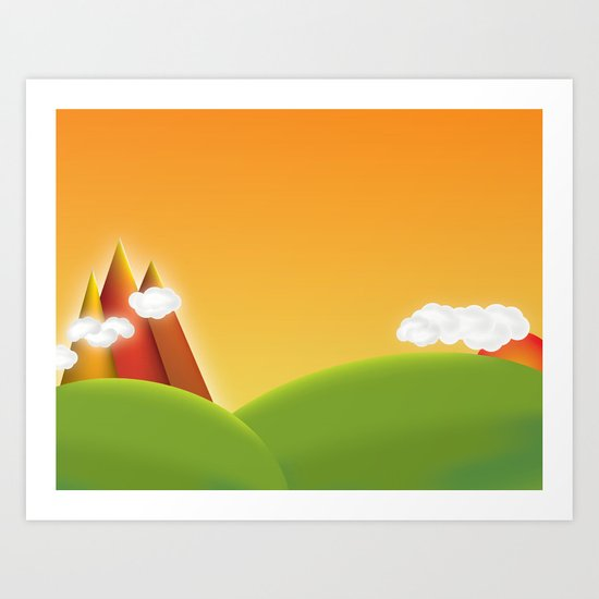 Countryside Revisited Art Print