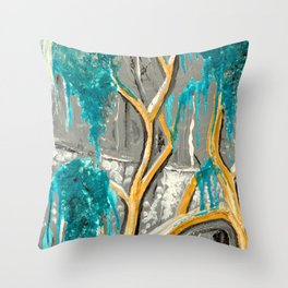 Resting Tree Throw Pillow