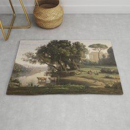 Jean-Baptiste-Camille Corot - Italian Landscape (Site d'Italie, Soleil Levant) Rug