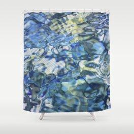 Jeweled Diamond Water Pond Shower Curtain