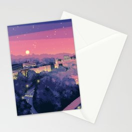 Pixel City 3 Stationery Cards