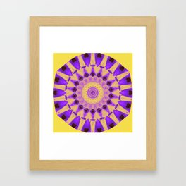 Bold Purple and Yellow Mandala Framed Art Print